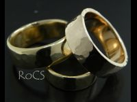 Assorted handmade gold bands image