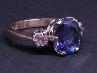Tanzanite and Diamond classic 3stone image
